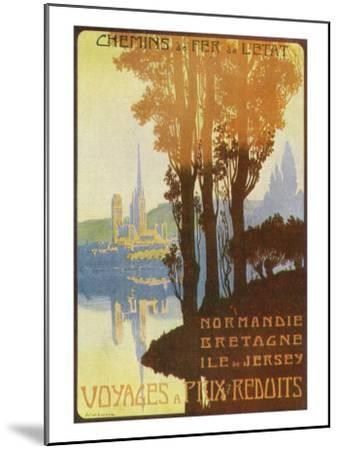 France - State Railway Promo for Normandy, Brittany, and Isle of Jersey, c.1920-Lantern Press-Mounted Art Print