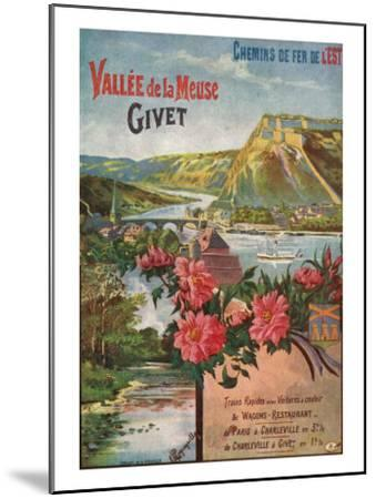 Givet, France - Scenic View of the Meuse River and Valley, Eastern Railways Postcard, c.1920-Lantern Press-Mounted Art Print