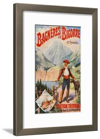 Bagneres-De-Bigorre, France - Scenic View in the Pyrenees, c.1920-Lantern Press-Framed Art Print
