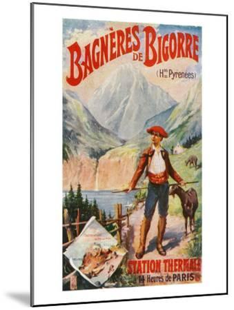Bagneres-De-Bigorre, France - Scenic View in the Pyrenees, c.1920-Lantern Press-Mounted Art Print