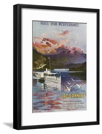 Haute-Savoie, France - Lake Annecy, Paris, Lyon, and La Mediterranee Railway, c.1920-Lantern Press-Framed Art Print