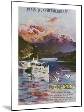 Haute-Savoie, France - Lake Annecy, Paris, Lyon, and La Mediterranee Railway, c.1920-Lantern Press-Mounted Art Print