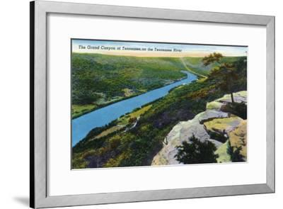 Tennessee - Aerial View of the Grand Canyon of Tn and the Tennessee River, c.1944-Lantern Press-Framed Art Print