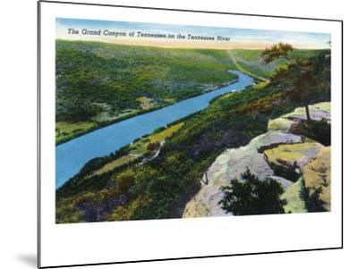 Tennessee - Aerial View of the Grand Canyon of Tn and the Tennessee River, c.1944-Lantern Press-Mounted Art Print