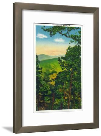 Great Smoky Mts. Nat'l Park, Tn - View of Thunderhead Mountain, c.1946-Lantern Press-Framed Art Print