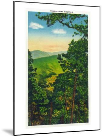 Great Smoky Mts. Nat'l Park, Tn - View of Thunderhead Mountain, c.1946-Lantern Press-Mounted Art Print