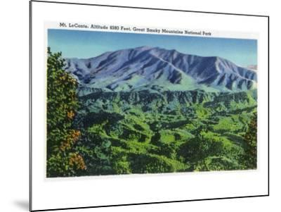 Great Smoky Mts. Nat'l Park, Tn - Panoramic View of Mt. Le Conte, c.1946-Lantern Press-Mounted Art Print