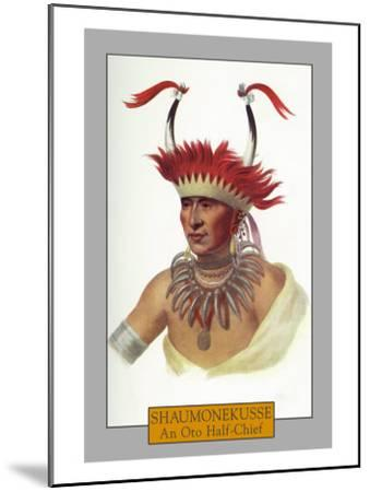 Shaumonekusse - Portrait of an Oto Half-Chief, c.1844-Lantern Press-Mounted Art Print