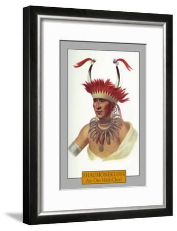 Shaumonekusse - Portrait of an Oto Half-Chief, c.1844-Lantern Press-Framed Art Print