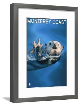 Monterey Coast, California - Sea Otter, c.2009-Lantern Press-Framed Art Print