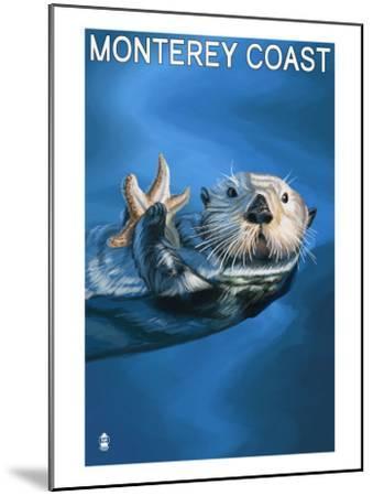 Monterey Coast, California - Sea Otter, c.2009-Lantern Press-Mounted Art Print