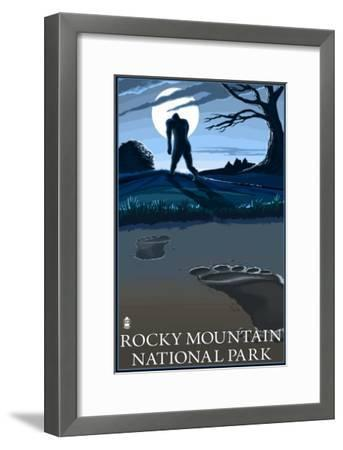 Rocky Mountain National Park, Co - Bigfoot, c.2009-Lantern Press-Framed Art Print