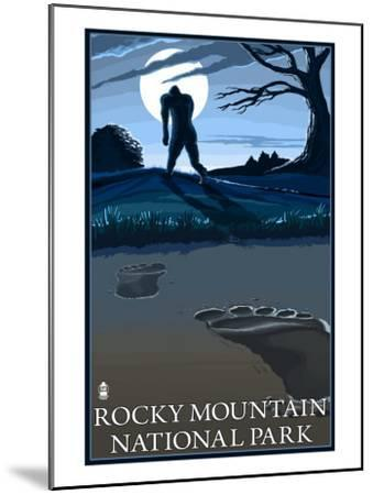 Rocky Mountain National Park, Co - Bigfoot, c.2009-Lantern Press-Mounted Art Print