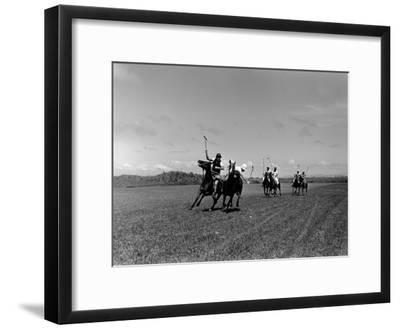 Polo Game in Progress at the Canlubang Sugarcane Plantation-Carl Mydans-Framed Photographic Print
