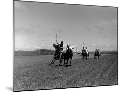 Polo Game in Progress at the Canlubang Sugarcane Plantation-Carl Mydans-Mounted Photographic Print