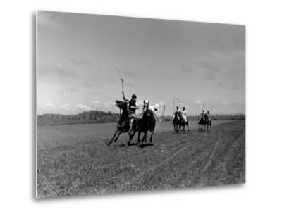 Polo Game in Progress at the Canlubang Sugarcane Plantation-Carl Mydans-Metal Print