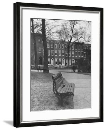 Outside of Journalist Henry L. Mencken's Home--Framed Photographic Print