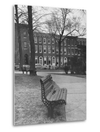 Outside of Journalist Henry L. Mencken's Home--Metal Print
