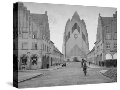Grundtvig Church in the City of Copenhagen--Stretched Canvas Print