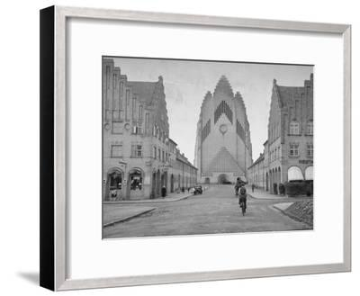 Grundtvig Church in the City of Copenhagen--Framed Photographic Print