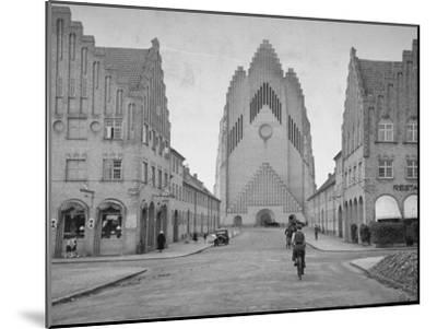 Grundtvig Church in the City of Copenhagen--Mounted Photographic Print