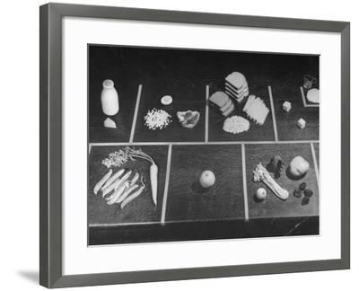 Rationings Distributed During the War-Nina Leen-Framed Photographic Print