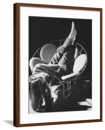 Love Seat Designed by Verner Panton Made of Steel Wire and Stretch Fabric-Yale Joel-Framed Photographic Print