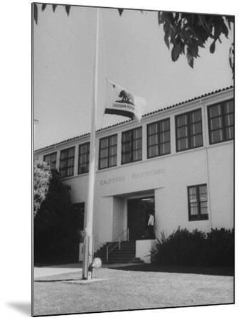 Flag of Republic of California Flying at Half Mast Following Plane Crash-Ralph Crane-Mounted Photographic Print