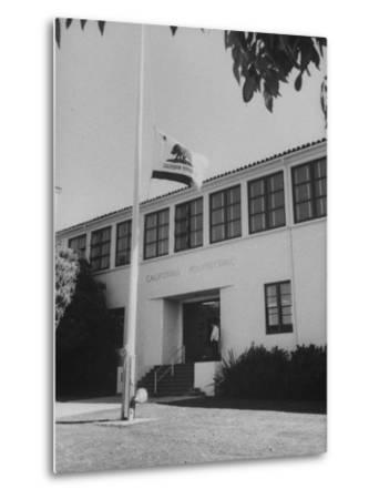 Flag of Republic of California Flying at Half Mast Following Plane Crash-Ralph Crane-Metal Print