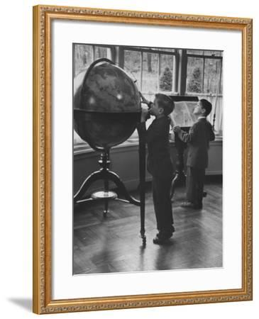 Children at a Private School-Nina Leen-Framed Photographic Print