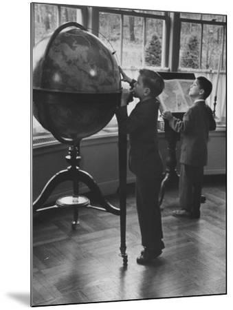 Children at a Private School-Nina Leen-Mounted Photographic Print