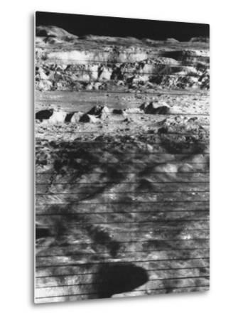 Moon's Surface Photographed from Lunar Orbiter Ii--Metal Print