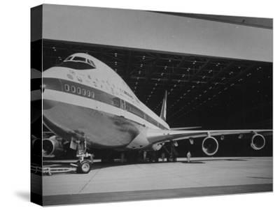 Boeing 747, the World's Largest and Fastest Jetliner at the Boeing Manufacturing Plant--Stretched Canvas Print