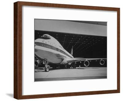 Boeing 747, the World's Largest and Fastest Jetliner at the Boeing Manufacturing Plant--Framed Photographic Print