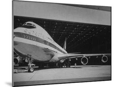 Boeing 747, the World's Largest and Fastest Jetliner at the Boeing Manufacturing Plant--Mounted Photographic Print