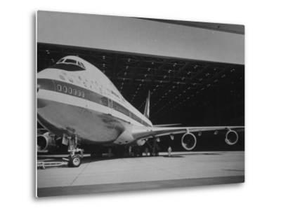Boeing 747, the World's Largest and Fastest Jetliner at the Boeing Manufacturing Plant--Metal Print