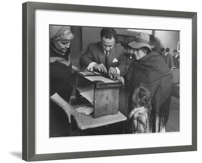 Woman Who Is Voting for the First Time--Framed Photographic Print