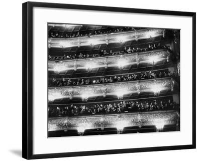 Audience Applauding Ballet Performed in the Bolshoi Theater--Framed Photographic Print