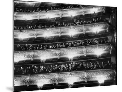 Audience Applauding Ballet Performed in the Bolshoi Theater--Mounted Photographic Print