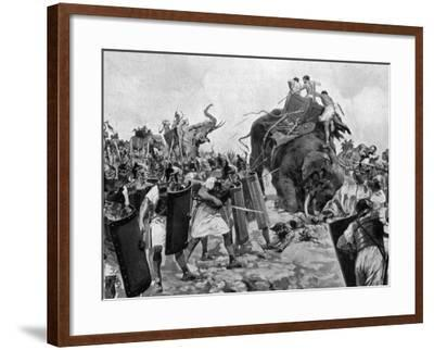 Battle of Zama During Second Punic War--Framed Photographic Print