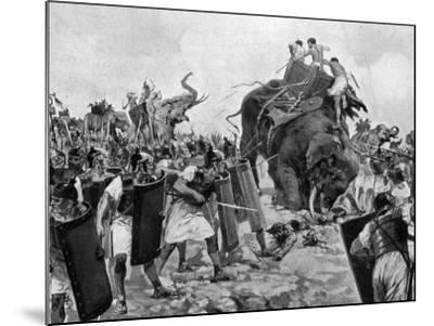 Battle of Zama During Second Punic War--Mounted Photographic Print