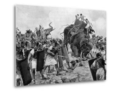 Battle of Zama During Second Punic War--Metal Print
