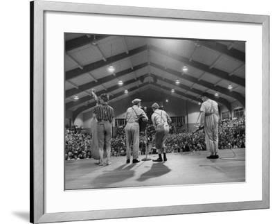 Cast Members Entertaining on the Stage of the Grand Ole Opry-Yale Joel-Framed Photographic Print