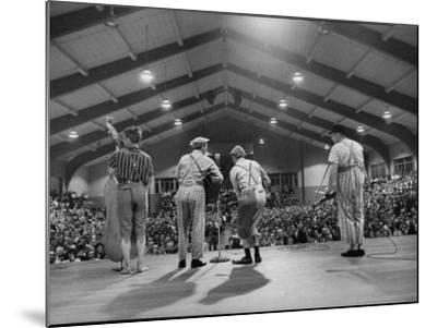 Cast Members Entertaining on the Stage of the Grand Ole Opry-Yale Joel-Mounted Photographic Print