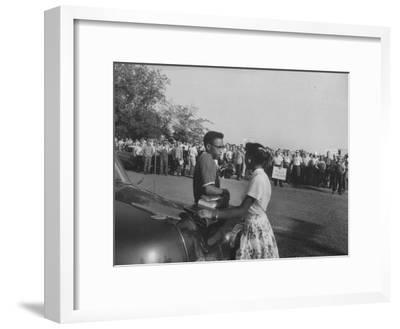 Two African American Students Attempting to Attend Classes at Texarcana College--Framed Photographic Print