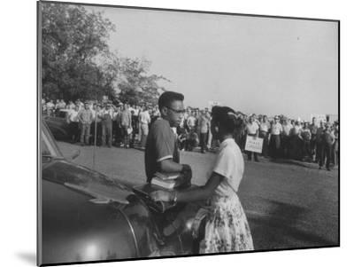 Two African American Students Attempting to Attend Classes at Texarcana College--Mounted Photographic Print