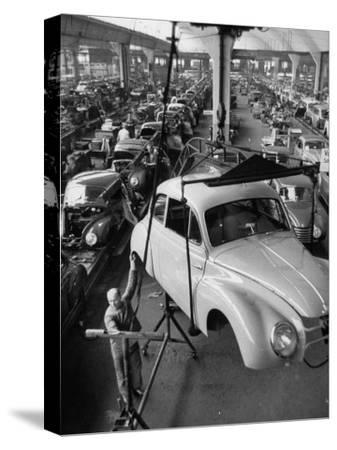 Dkw Auto Works, New 1954 Opels Getting Made-Ralph Crane-Stretched Canvas Print