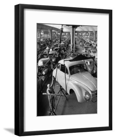 Dkw Auto Works, New 1954 Opels Getting Made-Ralph Crane-Framed Premium Photographic Print