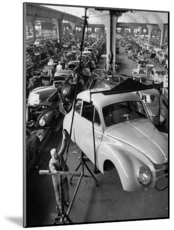 Dkw Auto Works, New 1954 Opels Getting Made-Ralph Crane-Mounted Premium Photographic Print