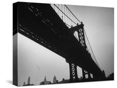 Picture of Manhattan Bridge Taken from Almost Directly Underneath-Lisa Larsen-Stretched Canvas Print